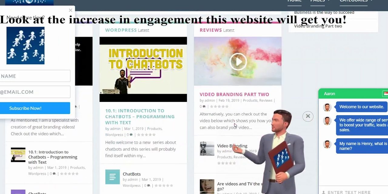 Spice up your website with Chatter