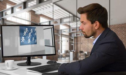 guy looking at unlimitedtrafficflow logo